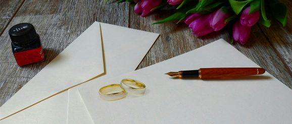 Zasady wypisywania zaprosze ślubnych
